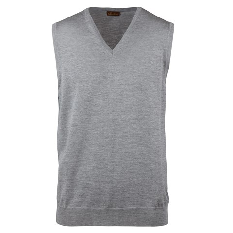 Grey Merino V-Neck Slipover