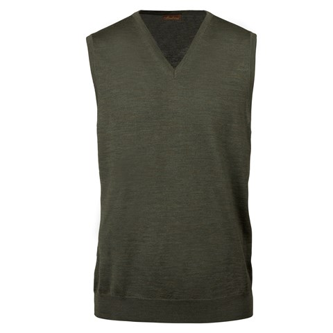 Forest Green Merino V-neck Slipover