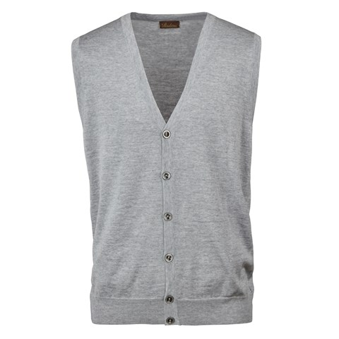 Light Grey Merino Vest