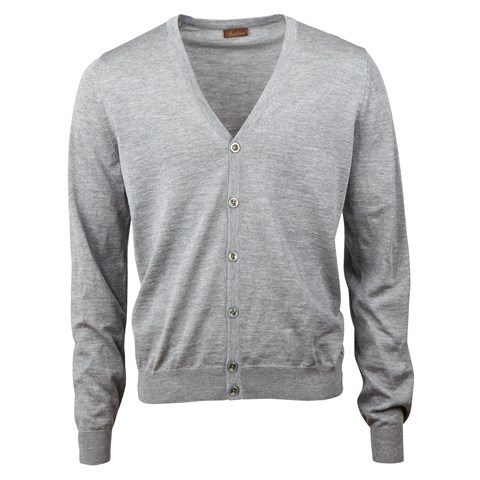 Grey Merino Cardigan