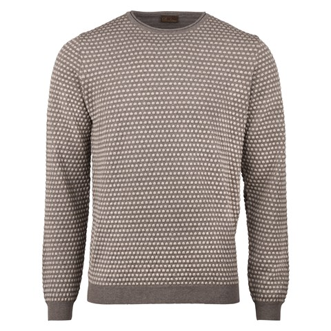 Sand Textured Dot Crew Neck