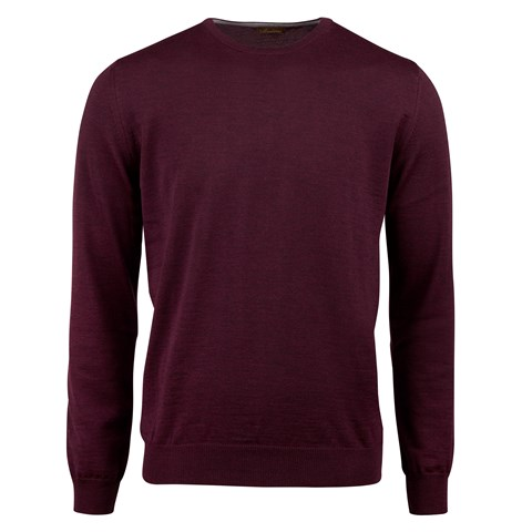Purple Merino Crew Neck With Patches