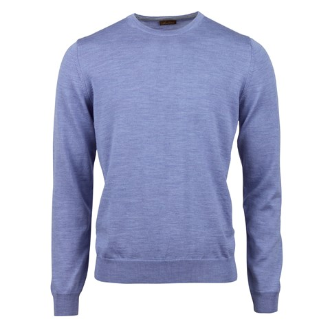 Purple Merino Crew Neck