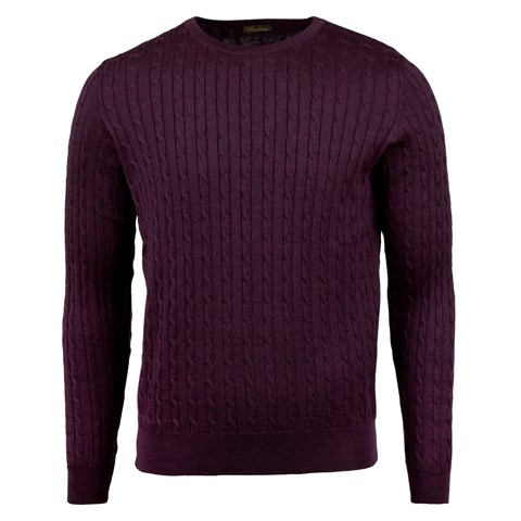 Purple Cable Crew Neck