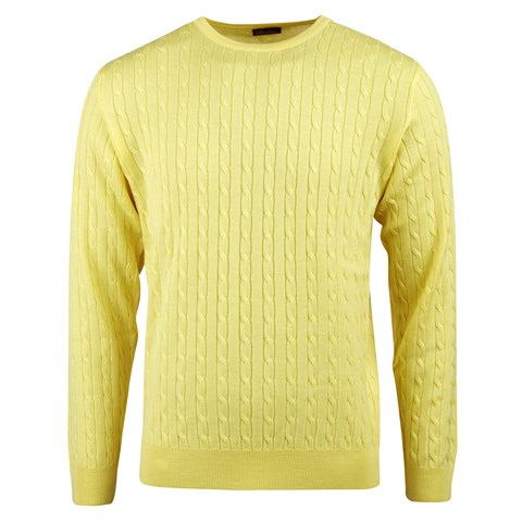 Yellow Cable Crew Neck
