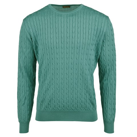 Petrol Cable Crew Neck