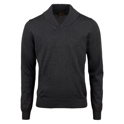 Anthracite Merino Shawl Collar