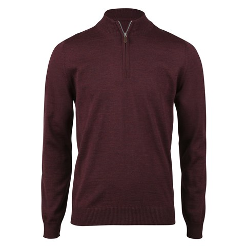 Red/Purple Merino Half Zip
