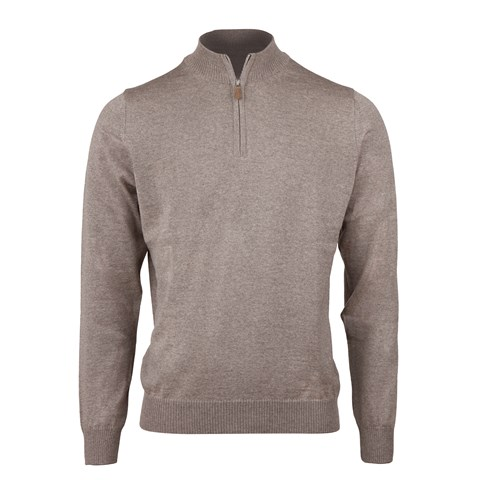 Mud Brown Merino Half Zip