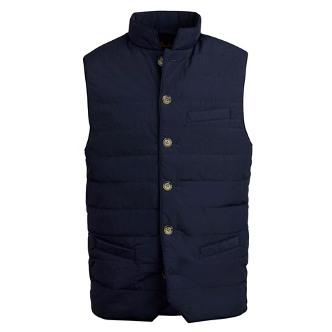 Navy Crinkly Nylon Vest