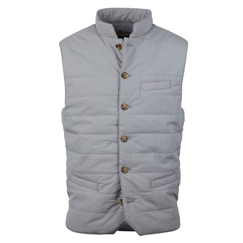 Grey Crinkly Nylon Vest