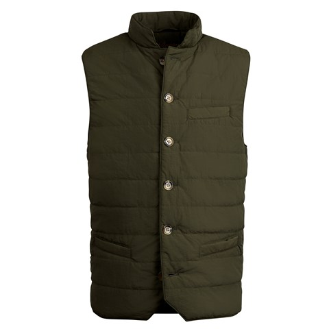 Forest Green Crinkly Nylon Vest