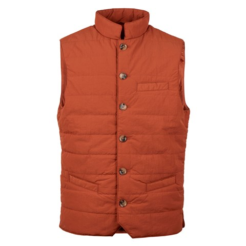 Orange Crinkly Nylon Vest