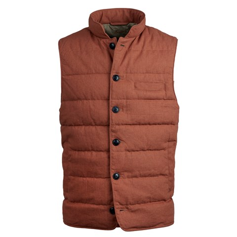 Brick Cotton/Linen Vest