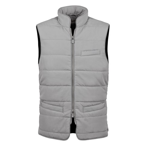 Grey Soft Quilted Nylon Vest