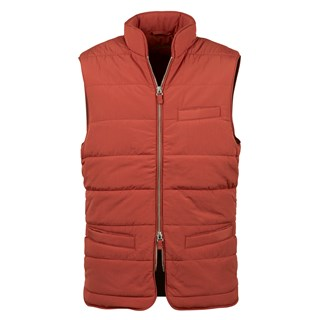 Rust Soft Quilted Nylon Vest