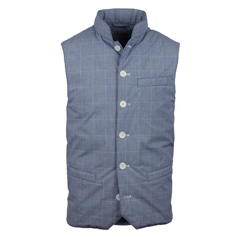 Blue Glen Check Quilted Vest