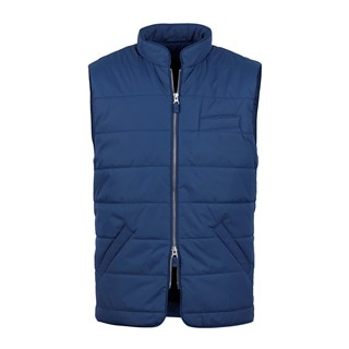 Blue Soft Quilted Nylon Vest