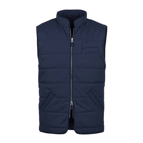 Navy Soft Quilted Nylon Vest