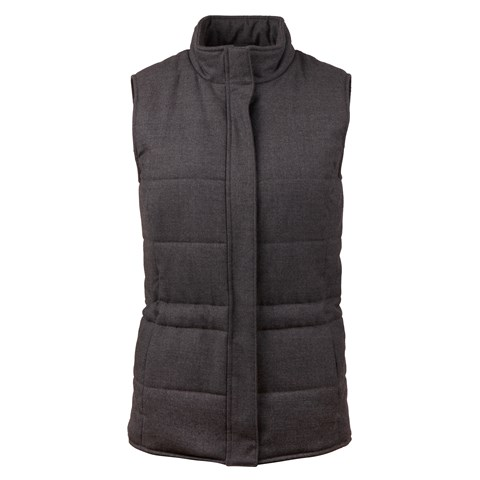 Grey Padded Wool Vest