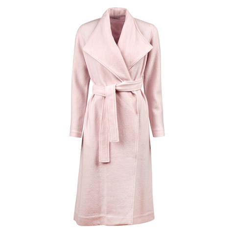 Long Wool Coat With Lapels