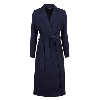 Navy Wool Coat With Lapels