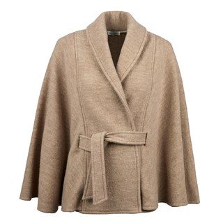 Beige Cape in Wool