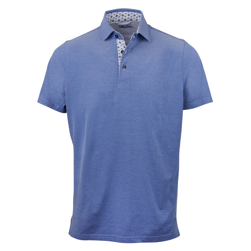 b4c9afd4 Blue Cotton Polo Shirt With Contrast Collar
