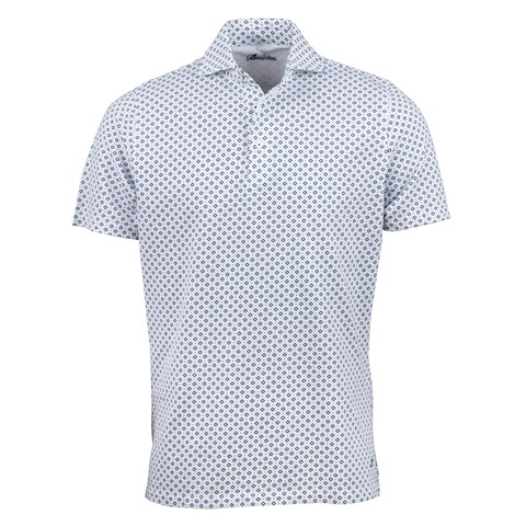 White/Navy French Lily Polo Shirt