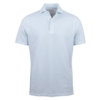 White/Light Blue French Lily Polo Shirt