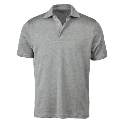 Grey Mercerized Cotton Polo Shirt