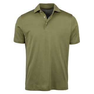 Forest Green Mercerized Cotton Polo Shirt