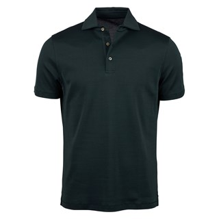 Dark Green Mercerized Cotton Polo Shirt