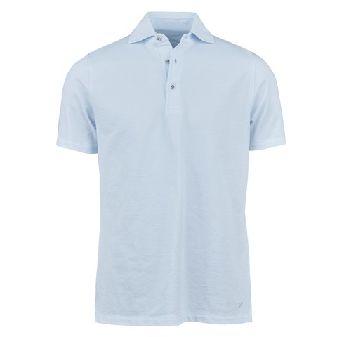 Sky Blue Oxford Polo Shirt