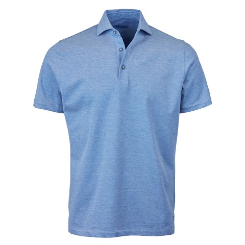 Blue Oxford Polo Shirt