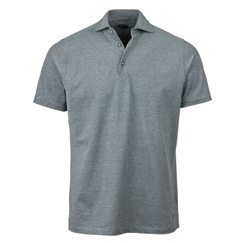 Navy/Grey Oxford Polo Shirt
