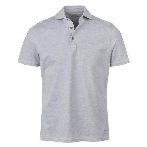 Light Grey Oxford Polo Shirt