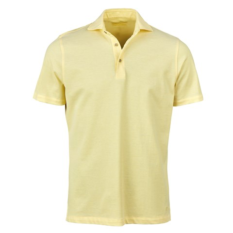 Light Yellow Oxford Polo Shirt