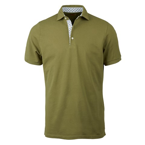 Forest Green Cotton Contrast Polo Shirt