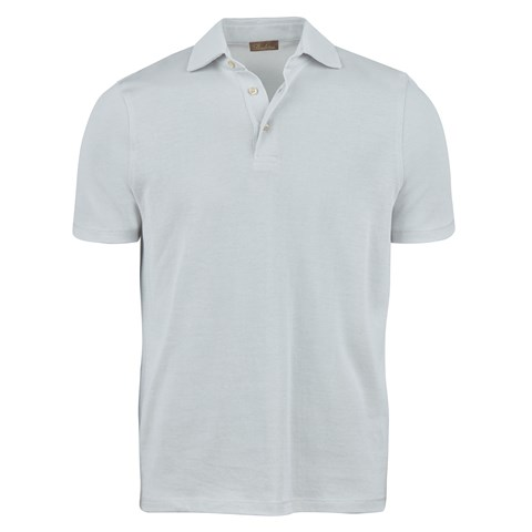 Light Grey Mercerized Knitted Polo Shirt