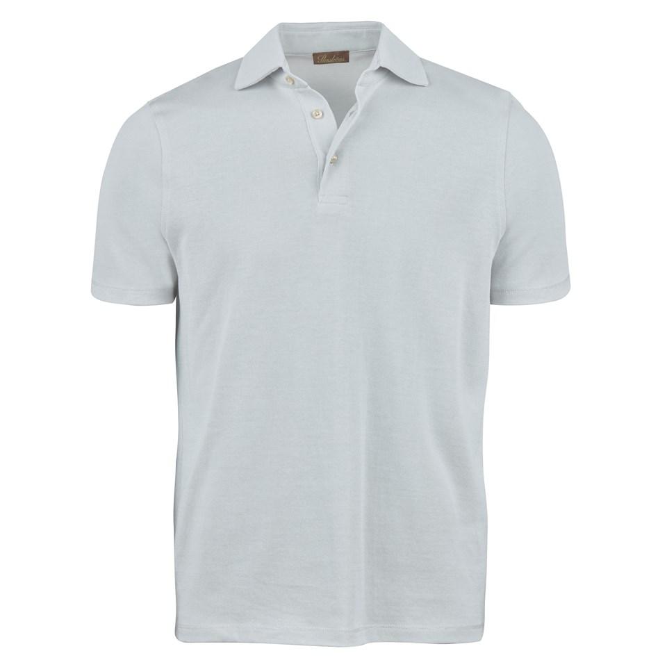 71998ef9f Light Grey Mercerized Knitted Polo Shirt