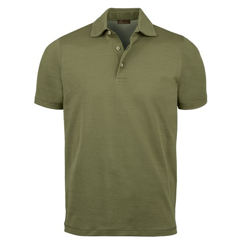 Forest Green Mercerized Knitted Polo Shirt
