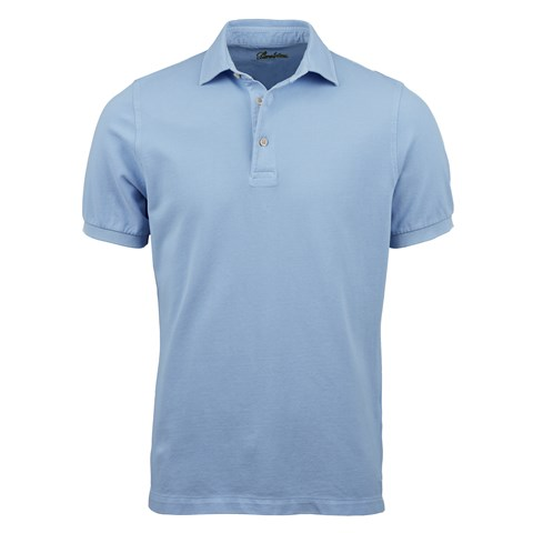 Light Blue Pigment Dyed Polo Shirt