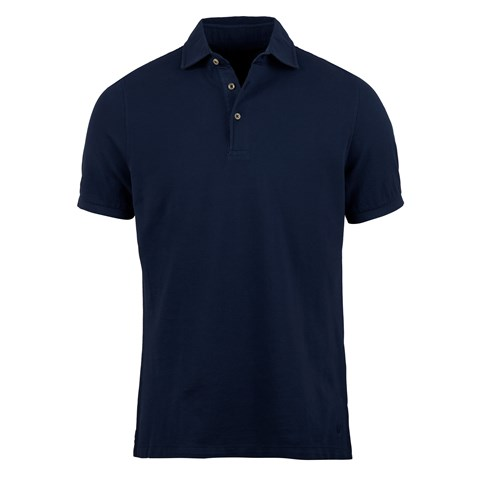 Navy Pigment Dyed Polo Shirt