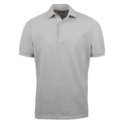 Light Grey Pigment Dyed Polo Shirt