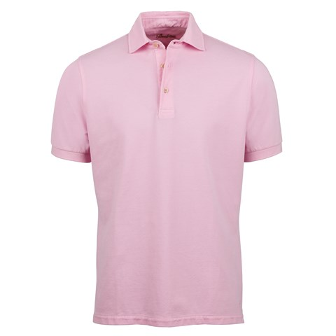 Pink Pigment Dyed Polo Shirt