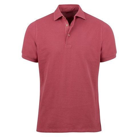 Magenta Pigment Dyed Polo Shirt