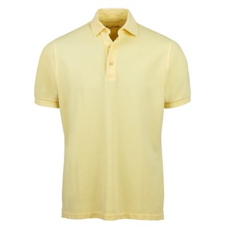 Yellow Pigment Dyed Polo Shirt