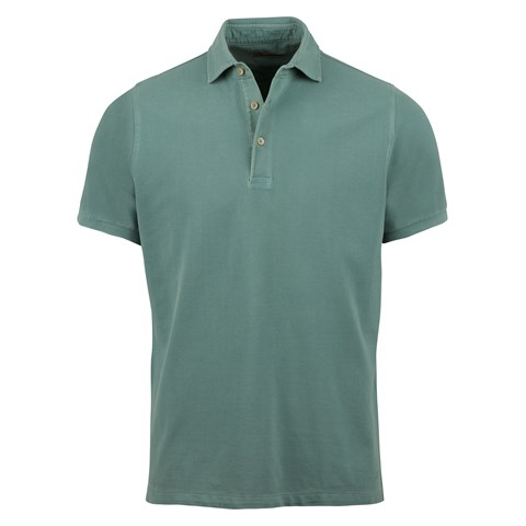 Green Pigment Dyed Polo Shirt