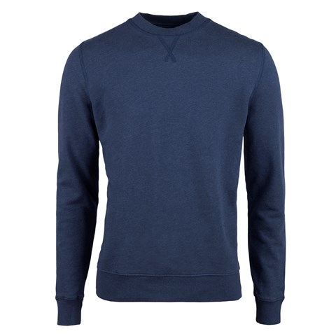 Blue College Cotton Crew Neck
